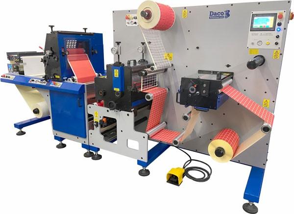 Daco FLX350 single colour flexographic label press